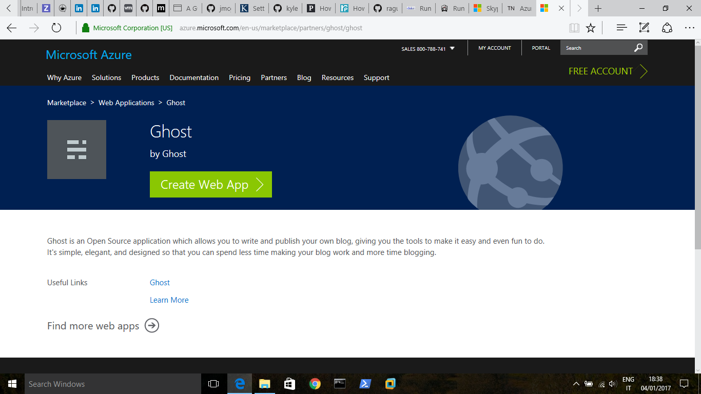 Ghost-Azure Marketplace